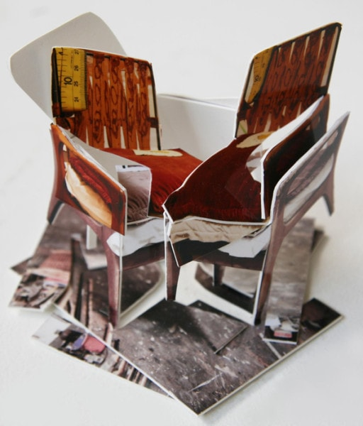 'Brett Whiteley Chair II', 2013, C-print on museum board, wood and hardware, 11x12x10cm