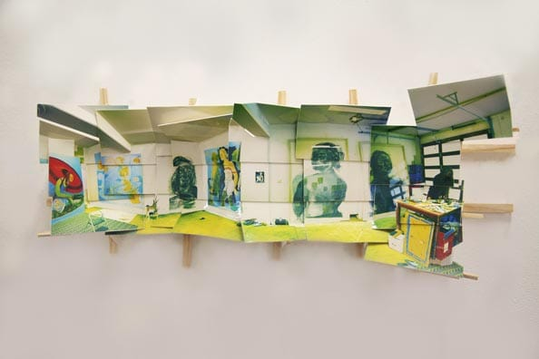 'Anita's Garage', 2013, C-print on museum board, wood and hardware, 20x55x9cm