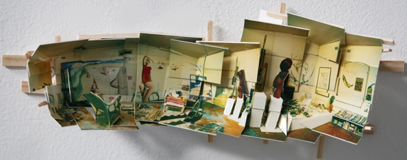 'Brett Whiteley Studio I', 2013, C-print on museum board, wood and hardware, 12x36x8cm