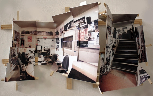 'East FM', 2013, C-print on museum board, wood and hardware, 25x42x11cm