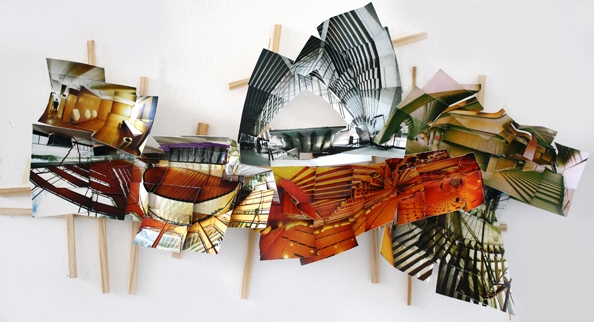 'Opera', 2013, C-print on museum board, wood and hardware, 38x78x9 cm