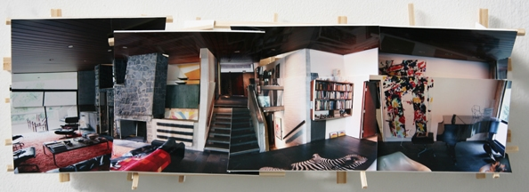 'Penelope's House', 2013, C-print on museum board, wood and hardware, 20x56x9cm