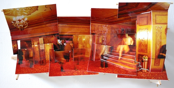 'State Hotel II', 2013, C-print on museum board, wood and hardware, 25x54x12cm