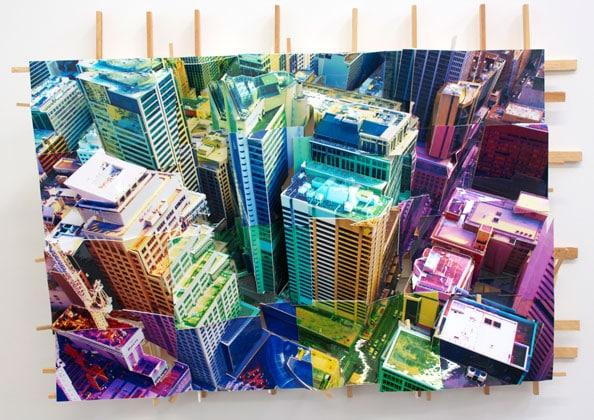 'Sydney Square 2', 2011, C-Print, wood, museum board, 48 x 60 x 18 cm