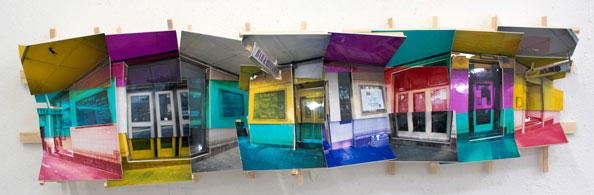 'Hopetown', 2011, C-Print, wood, museum board, 20 x 65 x 15 cm