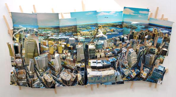 'Sydney Wave 1', 2011, C-Print, wood, museum board, 140 x 240 x 37 cm