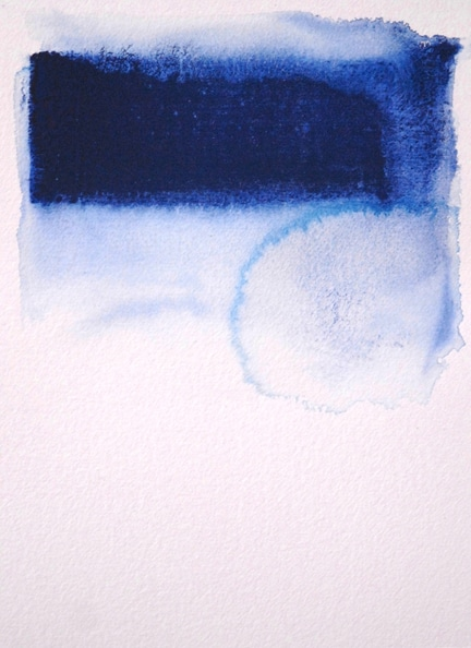 'The Common Human Drama', 2011, Water, dry ground pigment and watercolour on paper