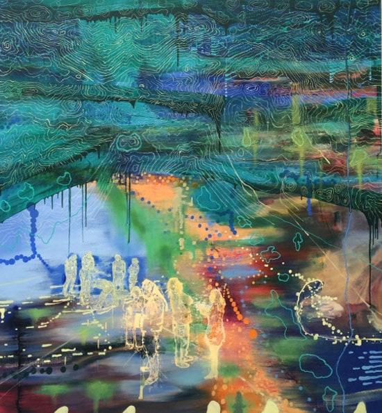 'Continuing Underground II', 2006-2013, Oil on Linen, 185 x170 cm
