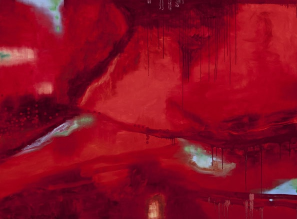'Absence Field I', 2011, Oil on linen, 185 x 250cm