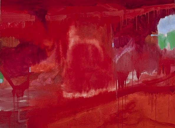 'Absence Field II', 2011, Oil on linen, 185 x 250cm