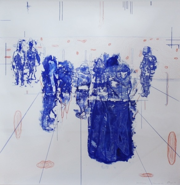 'Atonal Group Cannareggio 10', Monotype series, 2014, Oil and pencil on paper, 145 x 145 cm, framed