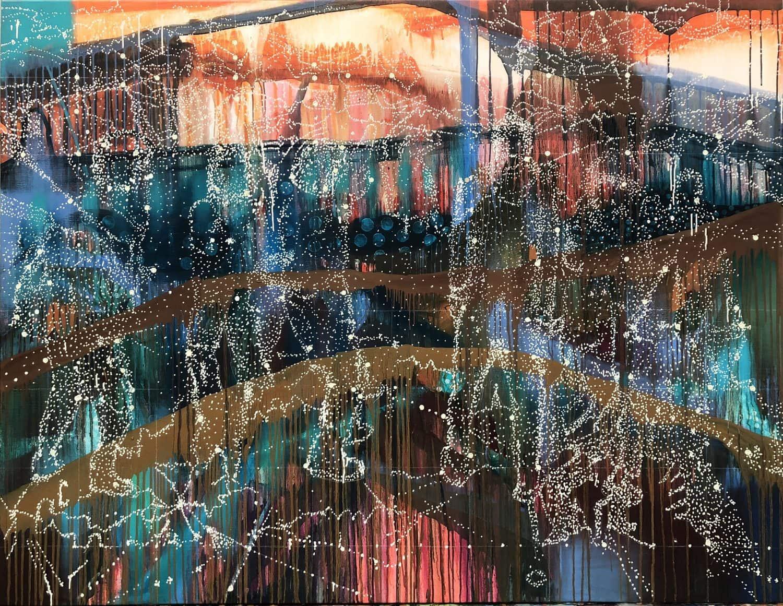 Jon Cattapan, 'Constellation Group', 2018, Oil on linen, 140 x 180cm