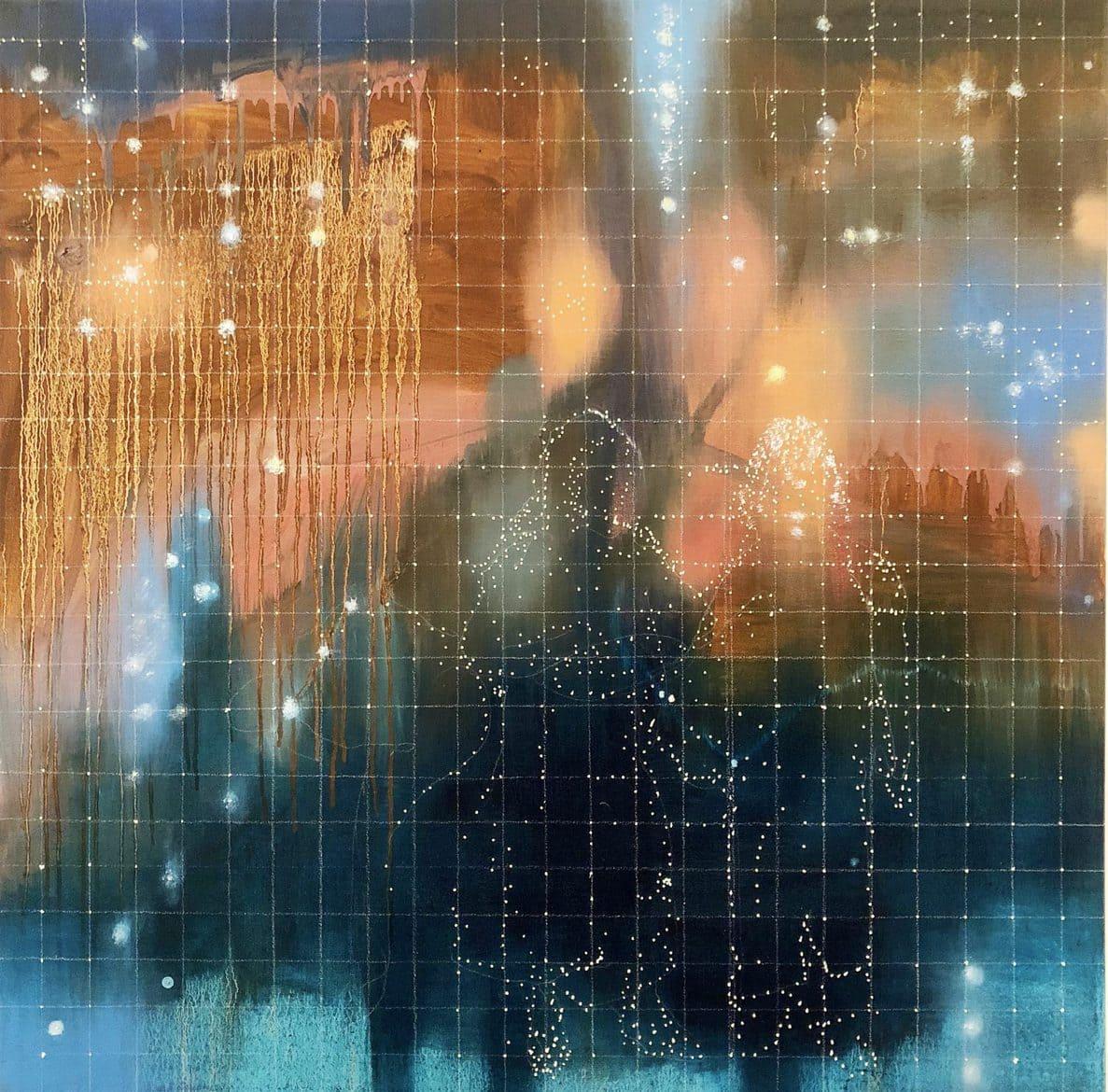Jon Cattapan, 'Constellation Study', 2018, Oil on linen, 100 x 100 cm