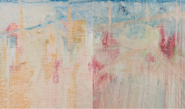 'Eternity No 1', 2014, Oil on linen, two panels, overall 198 x 336 cm