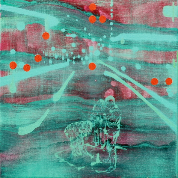 'Finder no. 1', 2011, oil on canvas, 50 x 50 cm