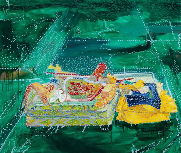 'Imagine A Raft (Hard Rubbish 6)', 2011, Oil and Acrylic on linen, 168 x195cm