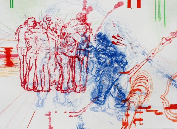 'Mildura Study' II , 2010 - Alkyd Modified oil paint, acrylic and pencil, 31 x 43 cm