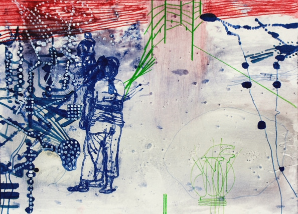 Mildura Study' XIII, 2010 - Alkyd Modified oil paint, acrylic and pencil, 31 x 43 cm