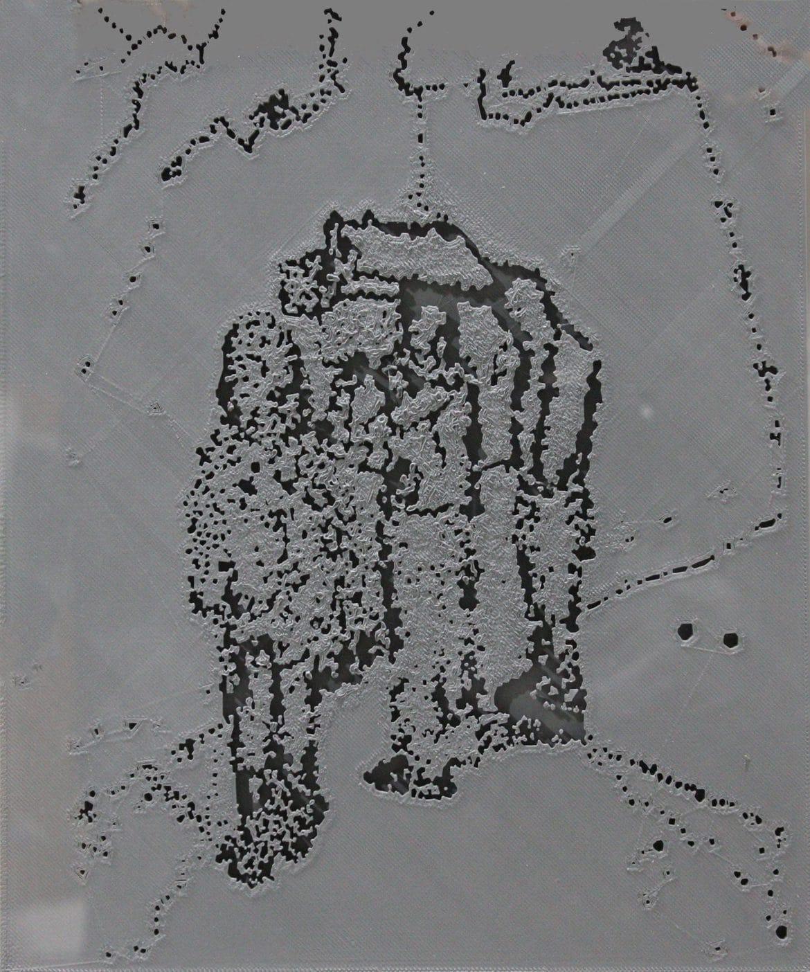 Jon Cattapan, 'Precipice Study I', 2019, 3D print, framed, 37 x 44 cm, edition of 5 + 1 A.P