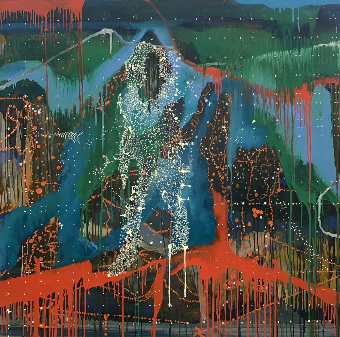 Jon Cattapan, 'The Chancer', 2017, Oil and acrylic on linen, 100 x 100cm