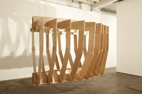 'Invested Objects', 2009, Plywood, Pine, Nuts and Bolts