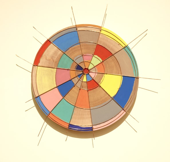 'Objet d'art I, II, III', 2011, Wood, Paint, Copper, 40-63 cm diameter