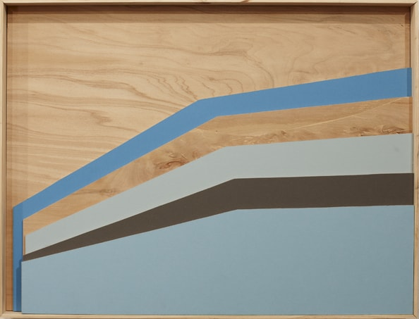 'One Against Another In Colour 1', 2011, 70 x 53 cm, wood, paint