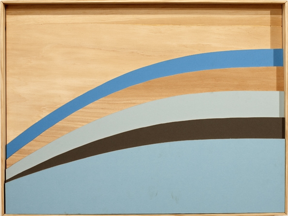 'One Against Another In Colour II', 2011, 70 x 53 cm, wood, paint