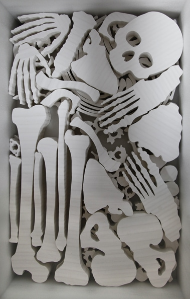 'Bones I', 2012, paper, glue, size variable, edition of 2 (compounded)