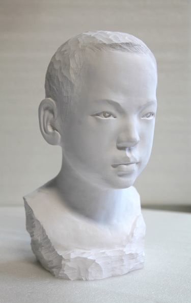 'Boy, 2012, paper, glue, edition of 1, dimensions compounded 40 x 24 x 22 cm