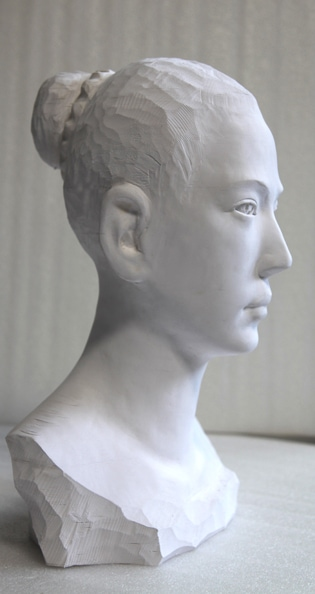 'Girl I', 2012, paper, glue, edition of 1, dimensions compounded 58 x 33 x 27 cm