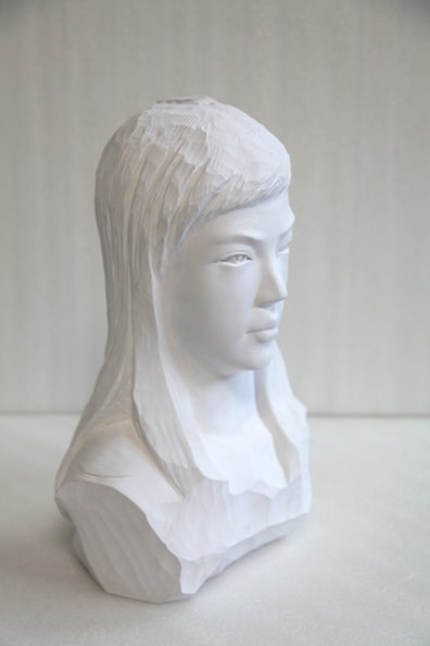 'Girl II', 2012, paper, glue, edition of 1, dimensions compounded 45 x 28 x 22 cm