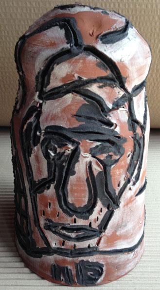 'Algiers', 2013, dry glazed ceramic, 22 x 13 x 13 cm