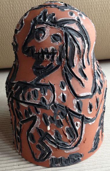 'Angola', 2013, dry glazed ceramic, 22 x 13 x 13 cm
