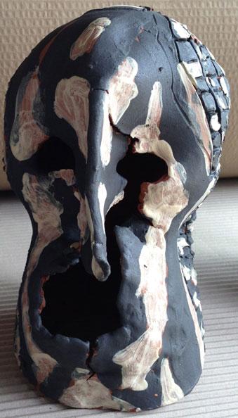 'Another showdown', 2012 dry glazed ceramic, 22 x 13 x 13 cm
