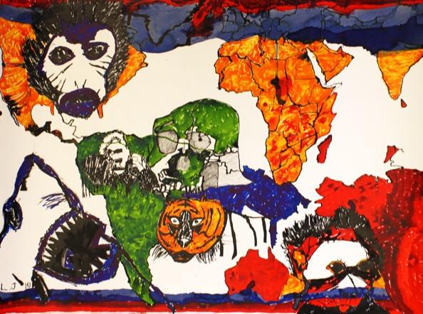 'Evil, but no Genius', 2010, 56 x 76 cm