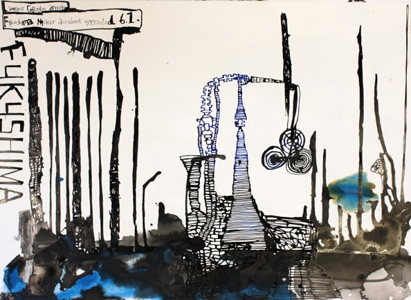 Fukishima', 2011, 56 x 76 cm