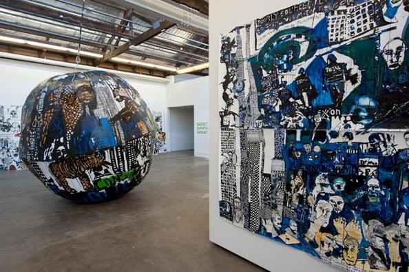 Installation shot of Locust Jones solo exhibition 'Revolt', 2011