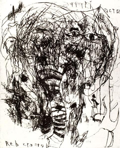 'Madikwe I', 2012, Drypoint, Somerset Satin White 300 gsm, 56 x 38 cm (unframed size), edition of 7