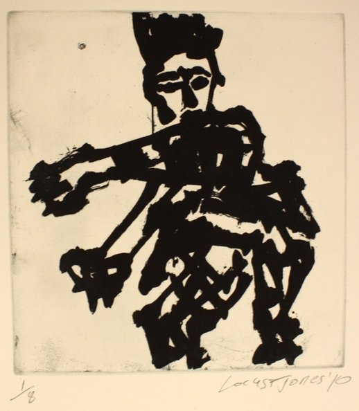 'Man', 2010, etching on paper, 50 x 40 cm