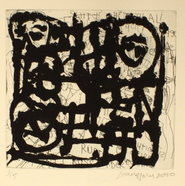 'Network', 2010, etching on paper, 50 x 40 cm