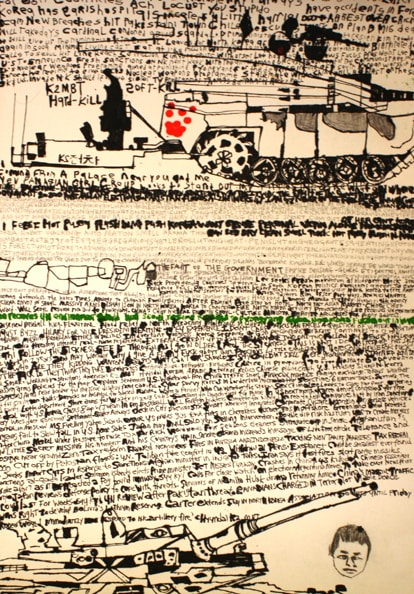 'Seoul City Tour', 2011, ink on paper, 100 x 70 cm