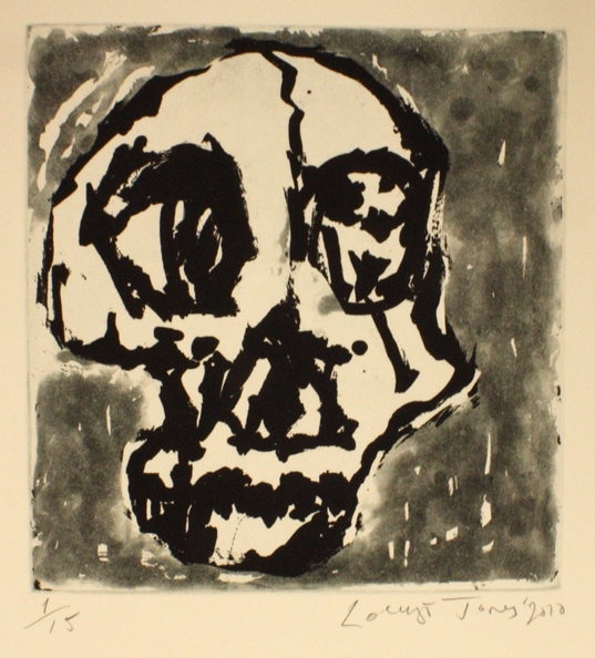 'Skull', 2010, etching on paper, 50 x 40 cm