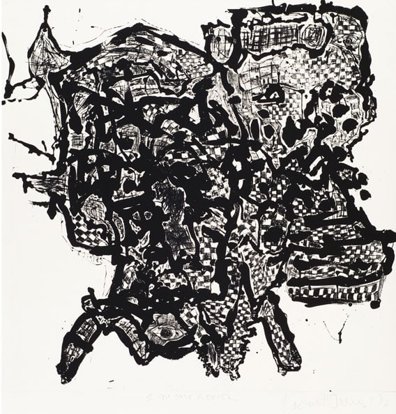 'Steep Descent, Sugarlift aquatint and Drypoint, Arches Cover White 300 gsm, 88 x 79 cm (unframed size), edition of 7