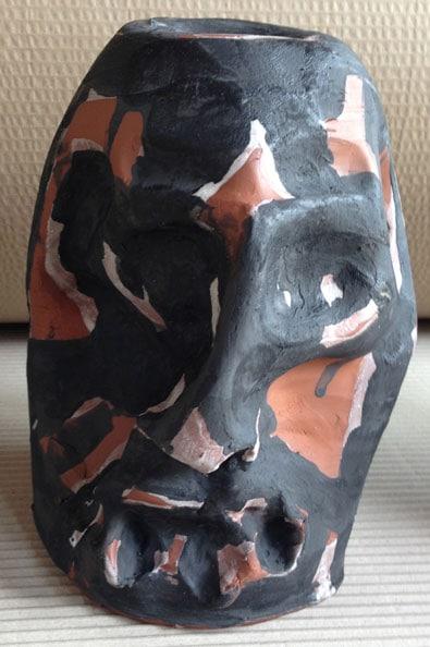 'Suspect', 2013, dry glazed ceramic, 22 x 13 x 13 cm