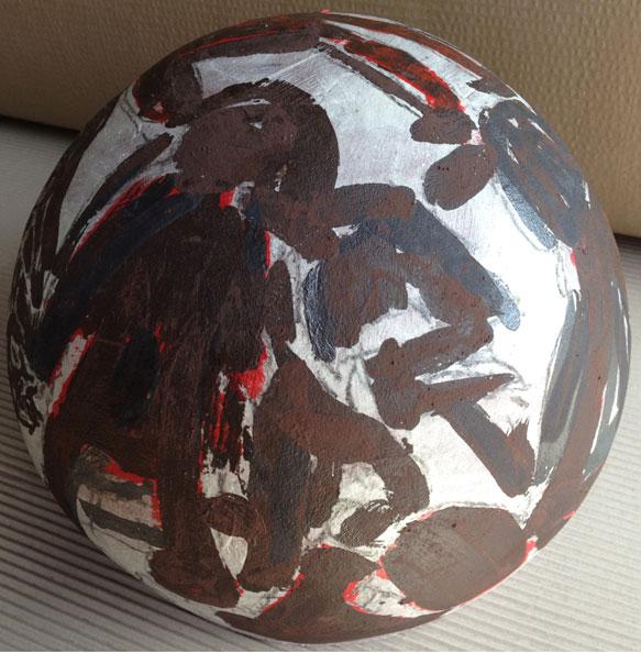 'Tahrir Square', 2013, Dry glazed ceramic, 30 cm diameter