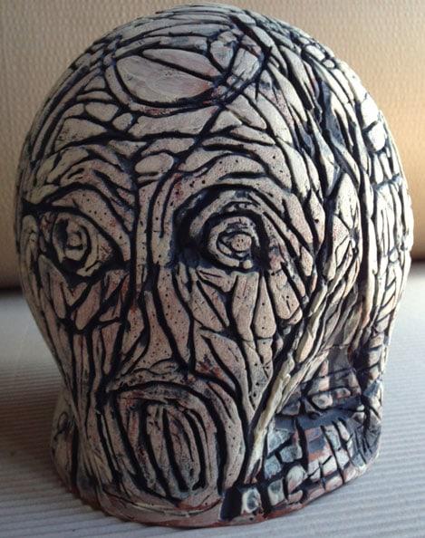 'Unplug', 2012, dry glazed ceramic, 25 x 22 x 22 cm