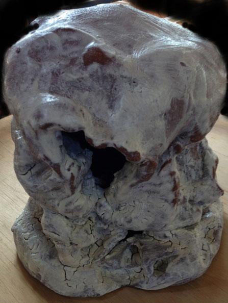 'White Head', 2013, dry glazed ceramic, 30 x 26 x 26 cm