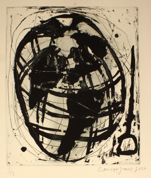 'World', 2010, etching on paper, 50 x 40 cm