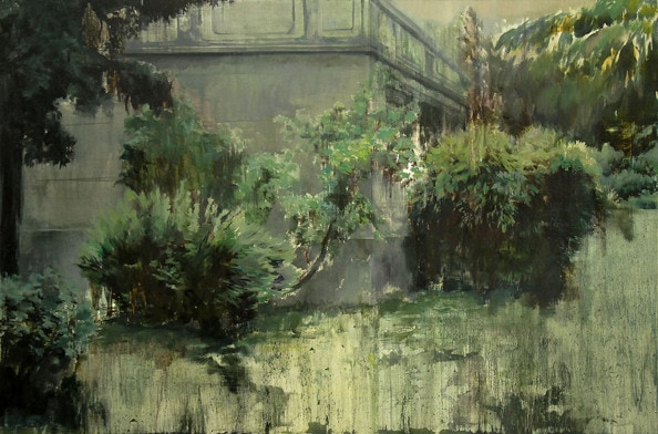 'Campus Dating Spot', 2012, oil on canvas, 100 x 150 cm